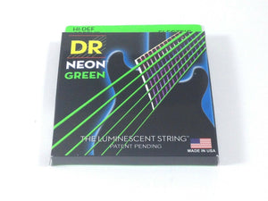 DR Guitar Strings Electric Neon Green 09-42 Light