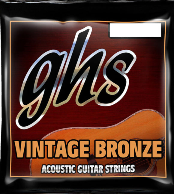 GHS Guitar Strings Acoustic 12-String Classic Light 10-46 Vintage Bronze.