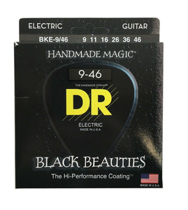 DR Guitar Strings Electric K3 Black Beauties High Performance Coated 09-46.