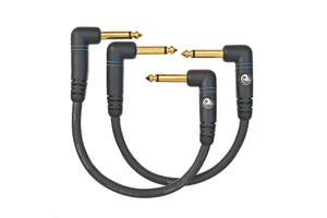 "Planet Waves Custom Series Patch Cables 6"" (6 inch)  2 Pack   Angled."