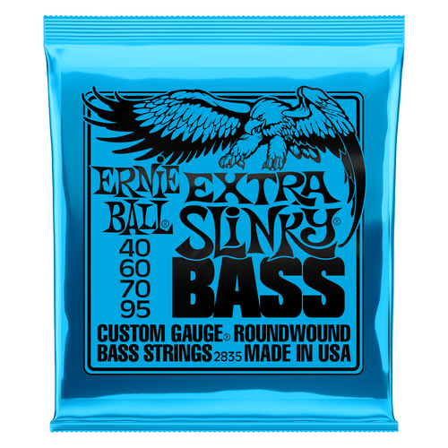 Ernie Ball Bass Guitar Strings 4-String Extra Slinky 2835 40-95.