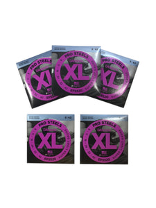 D'Addario Electric Guitar Strings 5-Pack  Pro Steels  1 Set   EPS520  Super Light