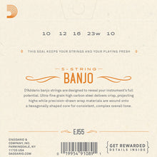 Load image into Gallery viewer, D'Addario Banjo Strings 2 Pack EJ55 (formerly J55) Phosphor Bronze Med