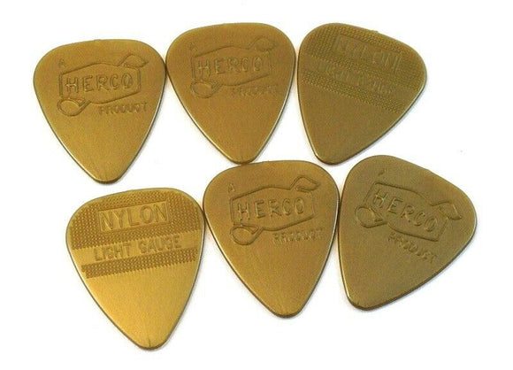 Herco Guitar Picks  Vintage 66  6 Pack  Light  HEV210P