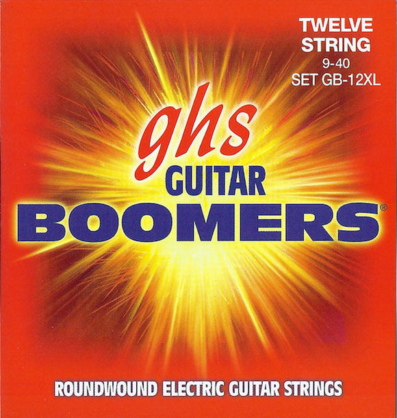 GHS Boomers Guitar Strings 12-String Electric Extra Light Roundwound 9-40