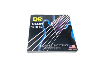 DR Strings Guitar Strings Electric Neon White 11-50 Heavy.