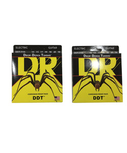 DR Guitar Strings Electric 2-Pack DDT 7-String Drop Down Tuning 10-56