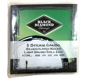 Black Diamond Banjo Strings 5-String Light Ball End