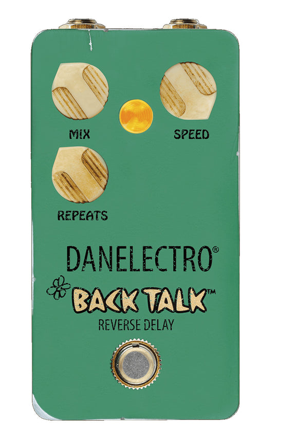 Danelectro Guitar Effect Pedal Back Talk Reverse Delay Pedal True Bypass.
