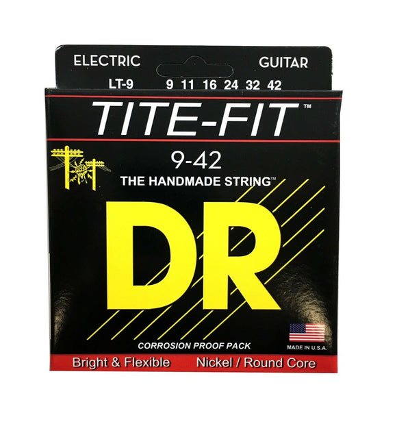 DR Guitar Strings Electric Tite-Fit 09-42 Lite Handmade USA