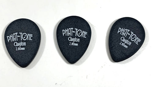 Clayton Guitar Picks  Phat-Tone Teardrop  3-Pack.