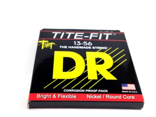 DR Guitar Strings Electric Tite-Fit 13-56 Mega Heavy Handmade USA.
