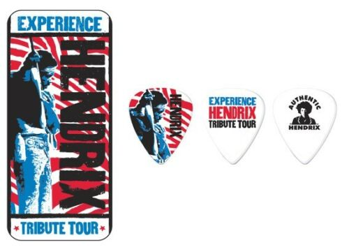 Jimi Hendrix Guitar Picks Tribute Tour with Picks Dunlop.