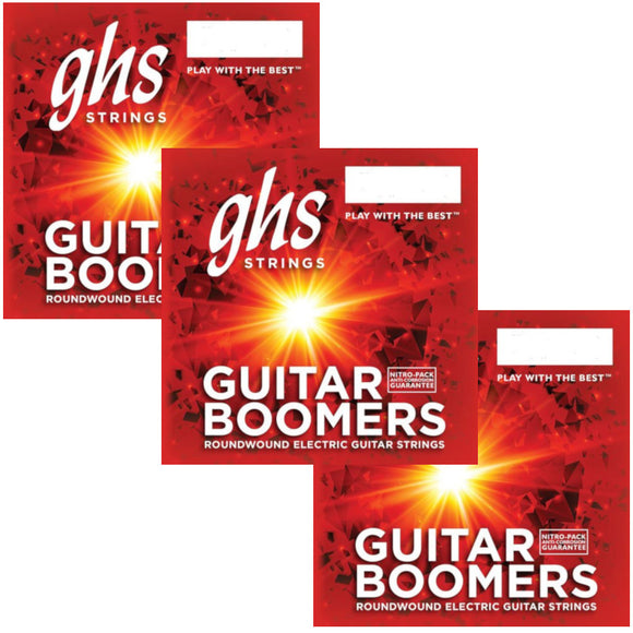 GHS Boomers Guitar Strings 3-Pack Roundwound Electric Medium 11-50