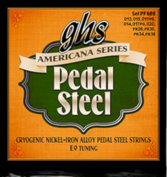 GHS Pedal Steel Strings - Americana Series -E9 Tuning - PF600 Cryogenic Nickel-Iron