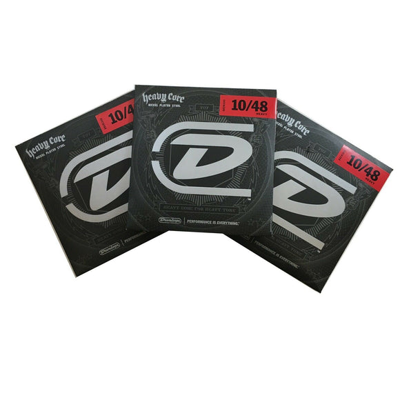 Dunlop Guitar Strings  Electric  3 Sets  Heavy Core  Heavy 10-48