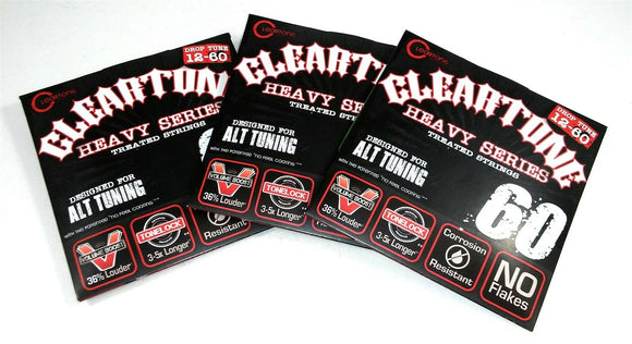 Cleartone Guitar Strings 3-PACK Electric Monster Heavy Alt Drop Tuning 12-60