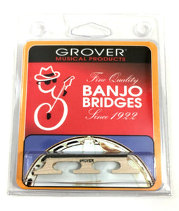 "Grover Minstrel Tenor Banjo Bridge 1/2"" Height, 3 Legged Select Maple 4 string."