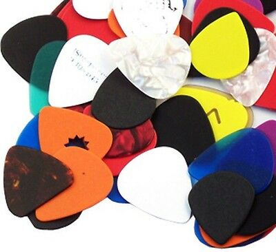 Pack of 50  Assorted Guitar Picks - 351 style -  Free Shipping.
