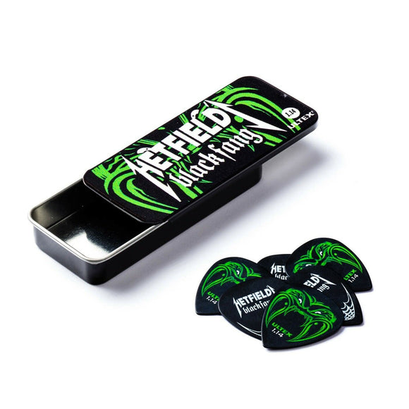Dunlop James Hetfield (Metallica) Black Fang Pick Tin and 6 Picks  1.14mm