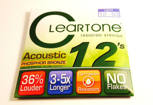 Cleartone Guitar Strings  Acoustic  Phosphor Bronze  12-53  Super long life