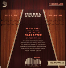 Load image into Gallery viewer, D'Addario Acoustic Guitar Strings 3 Pack Nickel Bronze 13-56