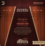 D'Addario Acoustic Guitar Strings 3 Pack Nickel Bronze 13-56