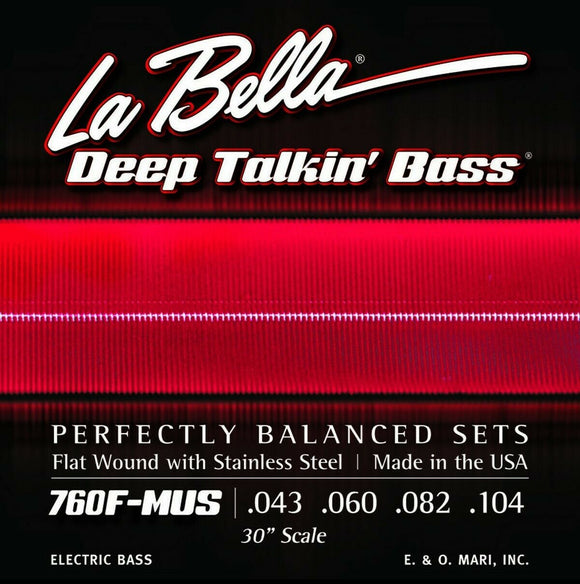 La Bella Bass Strings Deep Talkin' Bass Flat Wound Short Scale 30