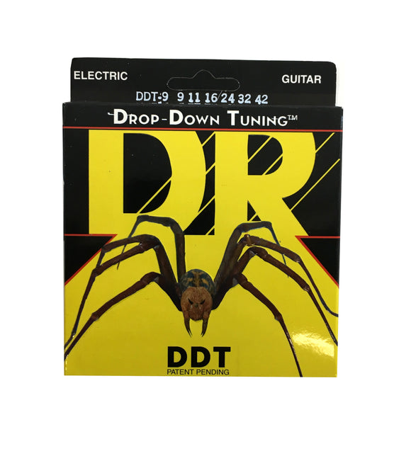 DR Guitar Strings Electric DDT Drop Down Tuning 9-11 Lite.