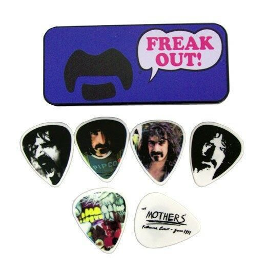 Dunlop Guitar Picks  Frank Zappa Collectible Tin  Blue Freak Out  Medium.