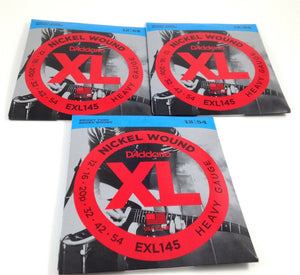 D'Addario Guitar Strings 3 Pack EXL145 Medium Top/Heavy Bottom 12-54