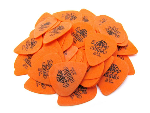 Dunlop Guitar Picks  Tortex   72 Pack  .60mm  Orange  Light  (418R60).