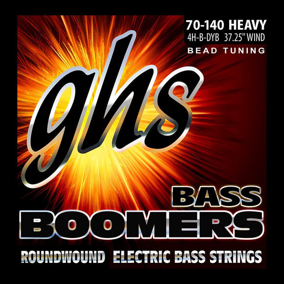 GHS Bass Guitar Strings  Boomers 70-140 Bead Tuning Heavy