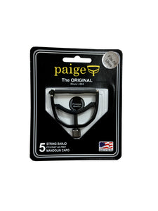 Paige Capo for Mandolin Banjo past 4th Fret Black Wide Made in the USA.
