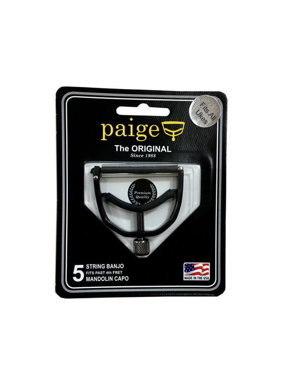 Paige Capo for Mandolin Banjo past 4th Fret Black Wide Made in the USA