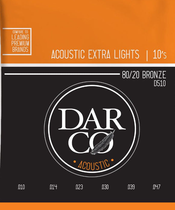 Darco Martin Guitar Strings Acoustic Extra Light 10-54.