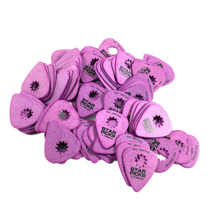 Everly Star Guitar Picks  72 Pack  1.14mm  Purple