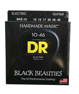 DR Guitar Strings Electric K3 Black Beauties High Performance Coated 10-46.