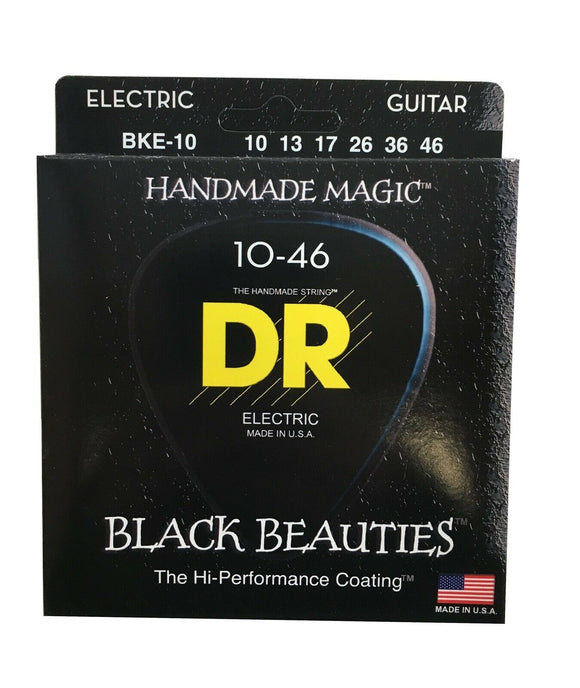 DR Guitar Strings Electric K3 Black Beauties High Performance Coated 10-46