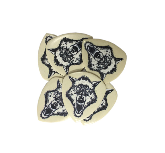 Dunlop Guitar PIcks White Fang 6 Picks 1.0mm James Hetfield.