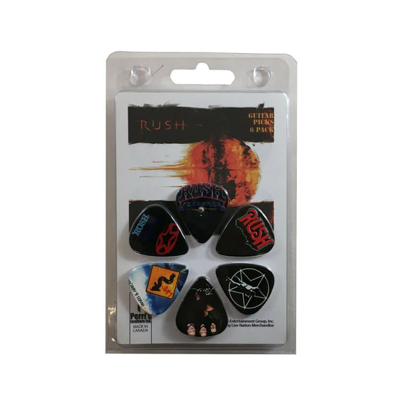 Rush Guitar Picks 6 Picks Albums Set 1