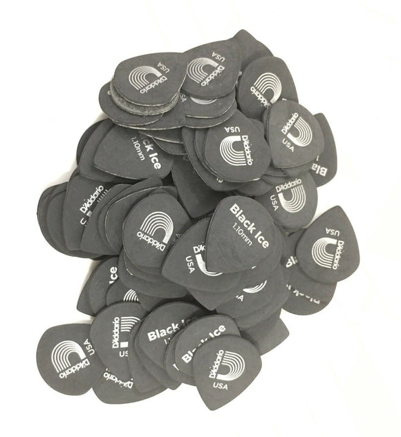 D'Addario - Planet Waves Guitar Picks  Black Ice  100 Pack  Duralin  Heavy