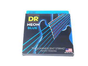 DR Guitar Strings Electric Neon Blue 09-42 Light.