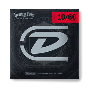 Dunlop Guitar Strings  Electric  Heavy Core   10-60.