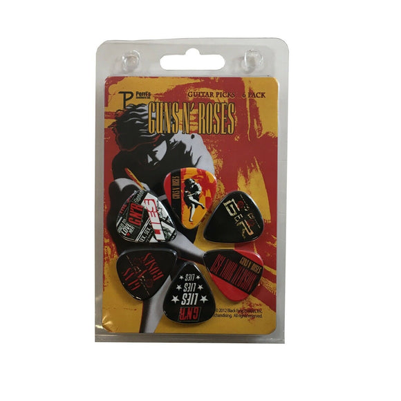 Guns N Roses Guitar Picks 6 Picks Albums Set 1
