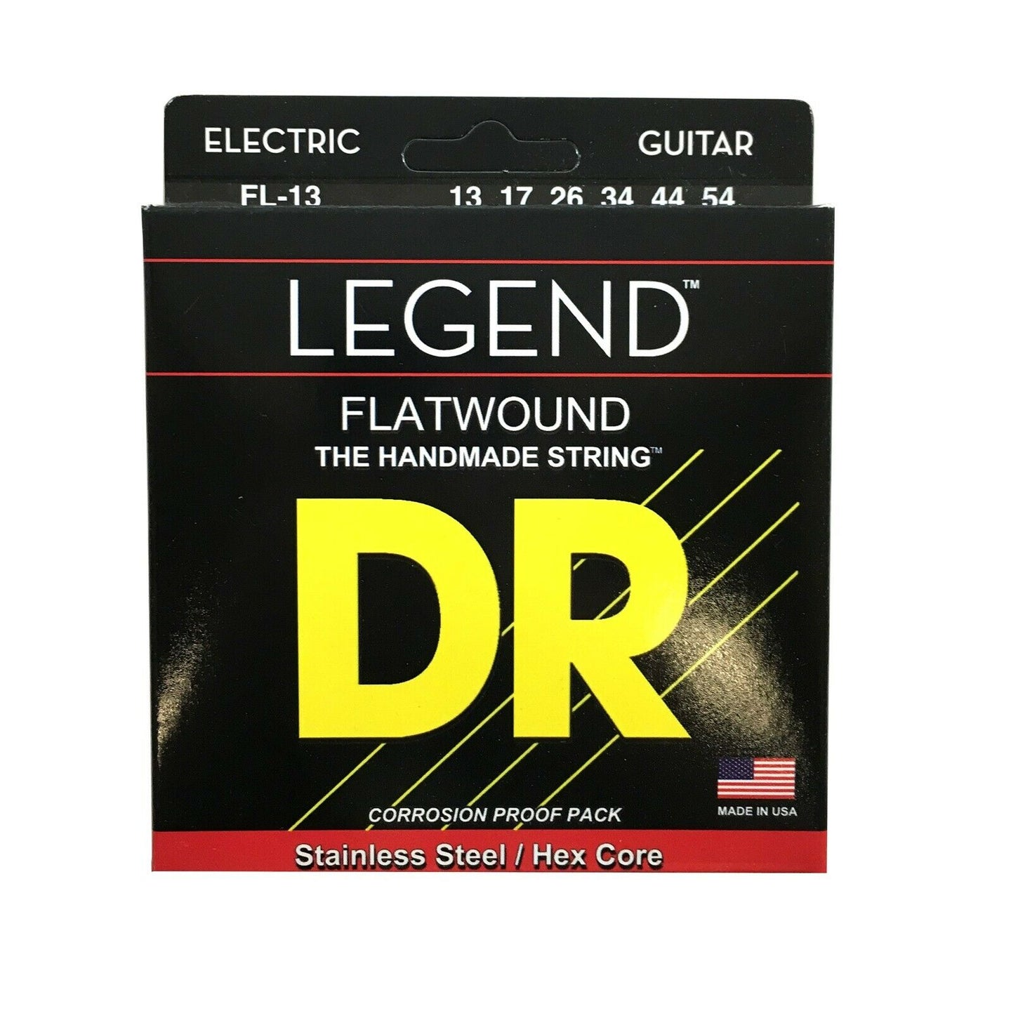 DR Guitar Strings Electric Legend Flat Wound Stainless Steel 13-54.