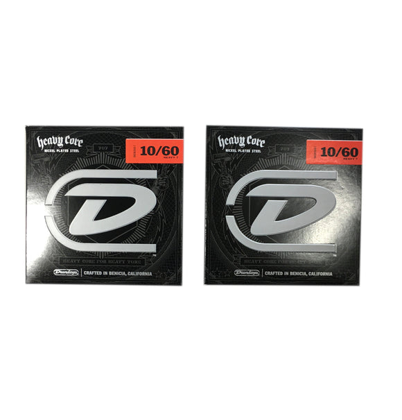 Dunlop Guitar Strings  Electric  2 Pack  Heavy Core  7 string guitar  10-60