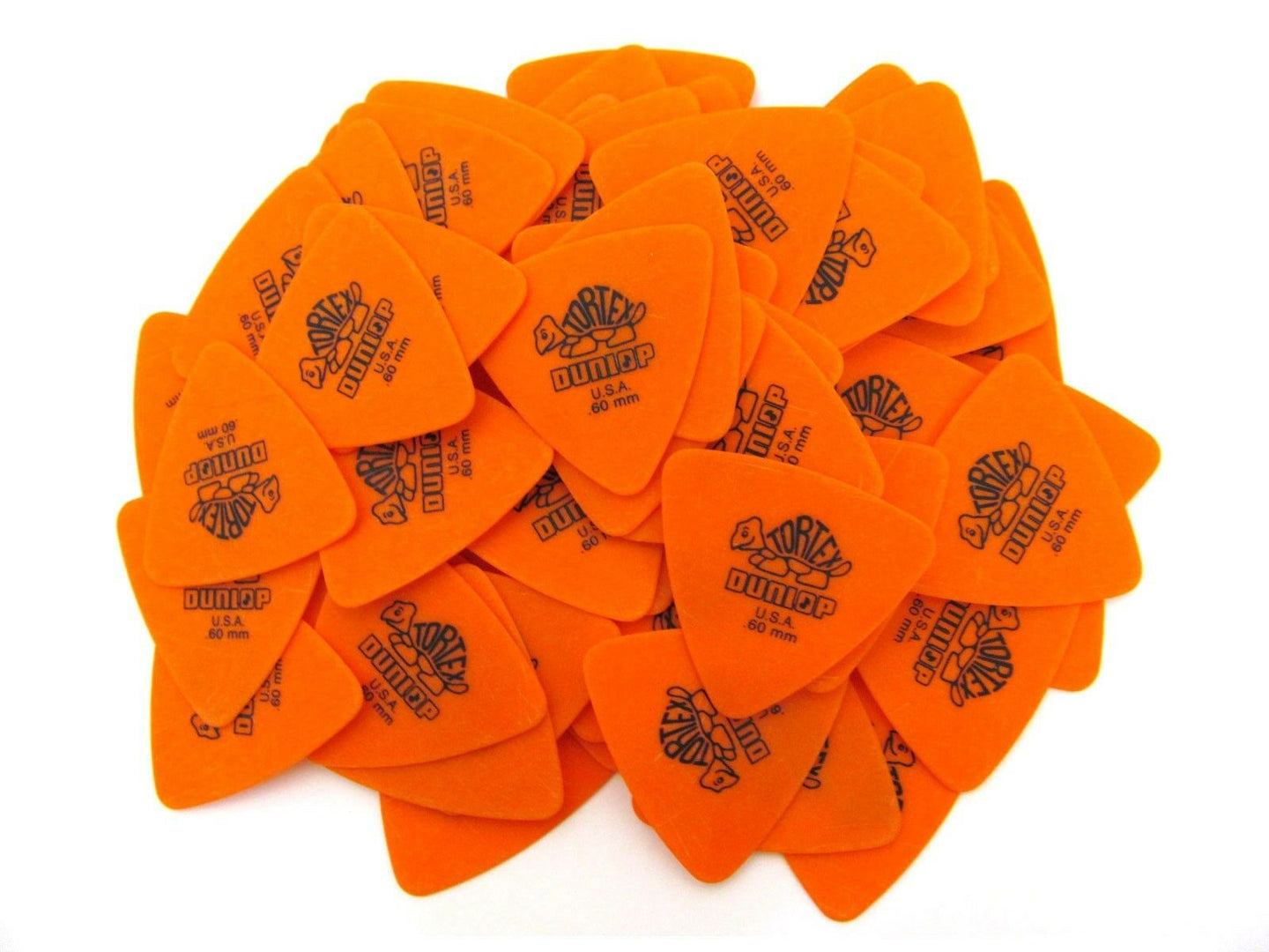 Dunlop Guitar Picks  Tortex Tri  72 Picks  .60mm  431R.60  Orange.