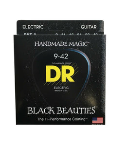 DR Guitar Strings Electric K3 Black Beauties High Performance Coated 09-42