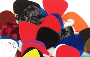 Pack of 25  Assorted Guitar Picks - 351 style - New Free Shipping.